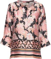 bahiacr blouse blouse lange mouwen roze cream