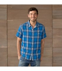 kahuna plaid shirt - blue