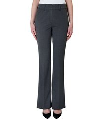 clara long flare pantalon theory grey