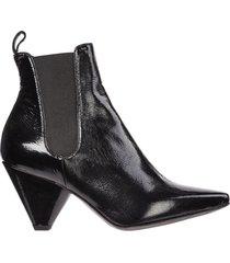 stivaletti stivali donna con tacco in pelle