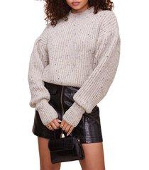 women's astr the label regis sweater, size medium - grey