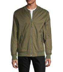 helmut lang men's textured twill jacket - black - size xl