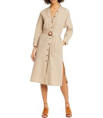 women's seventy long sleeve trench dress, size 12 us / 48 it - brown