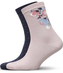 ladies anklesock, celestine socks, 2-pack lingerie socks footies/ankle socks rosa vogue