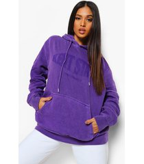 petite gebleekte oversized kent state hoodie, purple