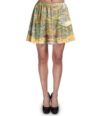 disneyland vintage map skater skirt