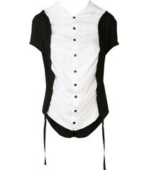 y's two-tone slouchy shirt - white