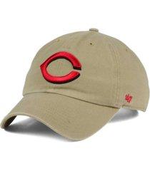 '47 brand cincinnati reds khaki clean up cap