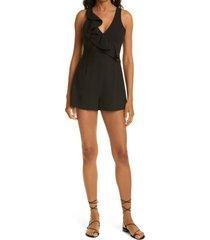 women's likely kimmy sleeveless romper, size 4 - black