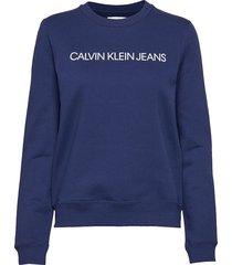 institutional regula sweat-shirt trui blauw calvin klein jeans