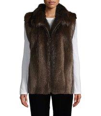 made for generation beaver fur vest