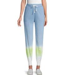 beach lunch lounge women's terie jogger pants - light indigo - size xl