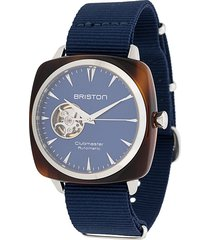 briston watches clubmaster iconic 40mm watch - blue