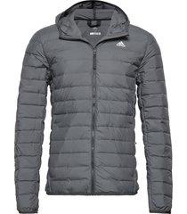 varilite soft down hooded jacket gevoerd jack grijs adidas performance