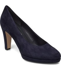 pumps shoes heels pumps classic blå gabor