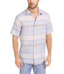 tasso elba men's sunset striped shirt, created for macy's