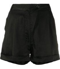 ann demeulemeester moonrise tailored shorts - black