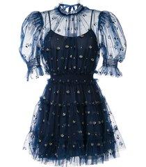 alice mccall cowboy tears mini dress - blue