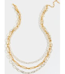 ainsley layered necklace - mixed plating