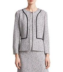 alca three-quarter tweed jacket