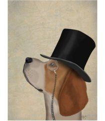 "fab funky beagle, formal hound and hat canvas art - 36.5"" x 48"""