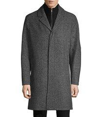 classic 2-in-1 notch lapel coat