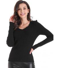 sweater básico acanalado negro nicopoly
