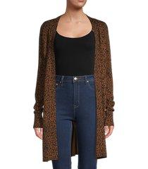 sanctuary women's lenox bold print cardigan - leopard - size s