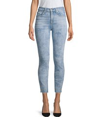 roxanne high-waist cut hem jeans