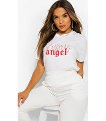 petite 'angel' t-shirt, wit