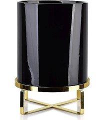 kwietnik metalowy osłonka ceramiczna negro 28 cm