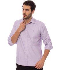 camisa aleatory manga longa purple masculina