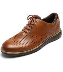 zapato casual de amarrar marrón pierre cardin pc7239-b