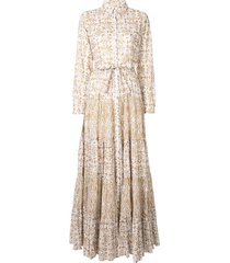 mes demoiselles baroque print day dress - white