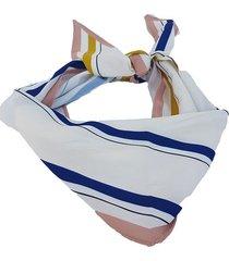 pañuelo azul nuevas historias rombo con rayas ba533-3514