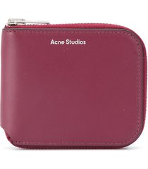 acne studios compact bifold wallet - red