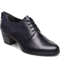 woms lace-up shoes boots ankle boots ankle boot - heel blå tamaris