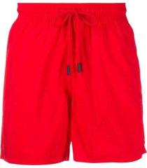 etro drawstring swim shorts - red