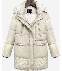 cappotto lungo a maniche lunghe a maniche lunghe in misto cashmere di agnello