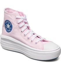 ctas move hi pink foam/digital blue sneakers skor rosa converse