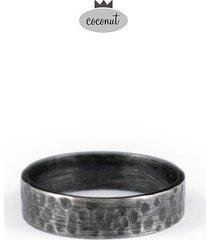 obrączka snow - oksydowane srebro