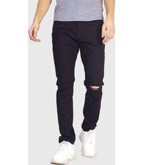jeans brave soul regular lenght negro - calce skinny