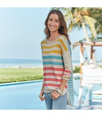 stripe story pullover petite