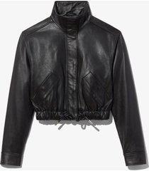 proenza schouler white label leather cropped jacket black xl