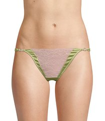 lilly lace stretch-silk thong