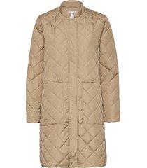 slffillipa quilted coat doorgestikte jas bruin selected femme