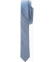 gravata extra slim mini xadrez azul - u