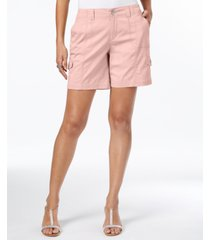 style & co petite comfort-waist cargo shorts, created for macy's