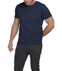 camiseta naval luck & load cuello redondo con bolsillo