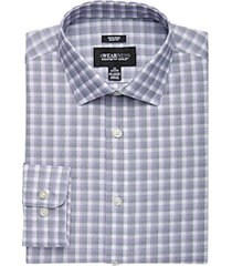 awearness kenneth cole plum plaid slim fit dress shirt